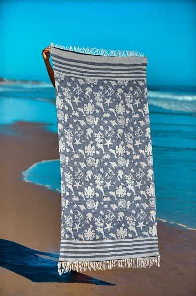 Πετσέτα Θαλάσσης Παρεό 90x1.85 βαμβακερή 100% Σ16