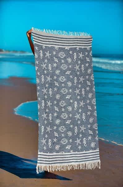 Πετσέτα Θαλάσσης Παρεό 90x1.85 βαμβακερή 100%  Σ31